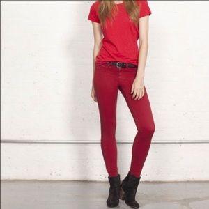 Rag and Bone Red Skinny Jean / pant - 28
